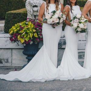 Jovani white backless dress